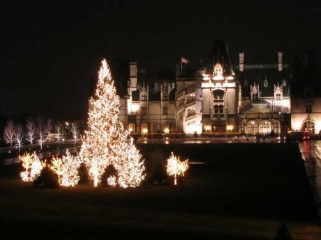 Biltmore with Christmas Tree