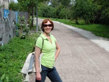 Walking a trail in Tallinn